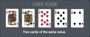Jenis Susunan Kartu Terbaik One Pair Dalam Permainan Poker Online Terbaru